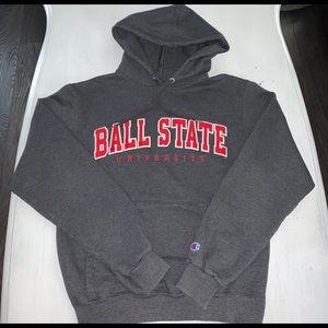 Champion Hoodie Ball State Stitched Size Small